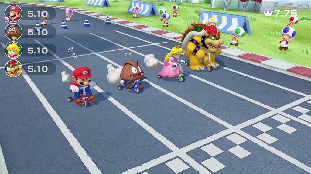 Mario Party im Multiplayer-Modus mit drei Freunden